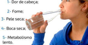 Está bebendo pouca água?