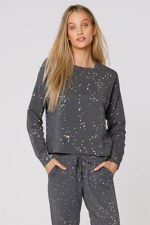 Bleach Splatter Terry Sweatshirt
