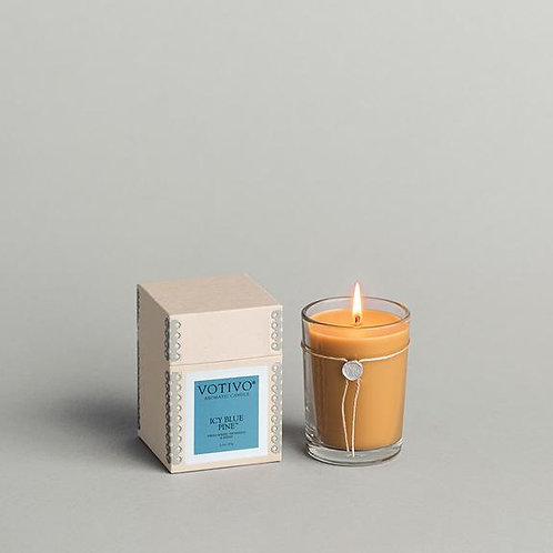 Icy Blue Pine Candle
