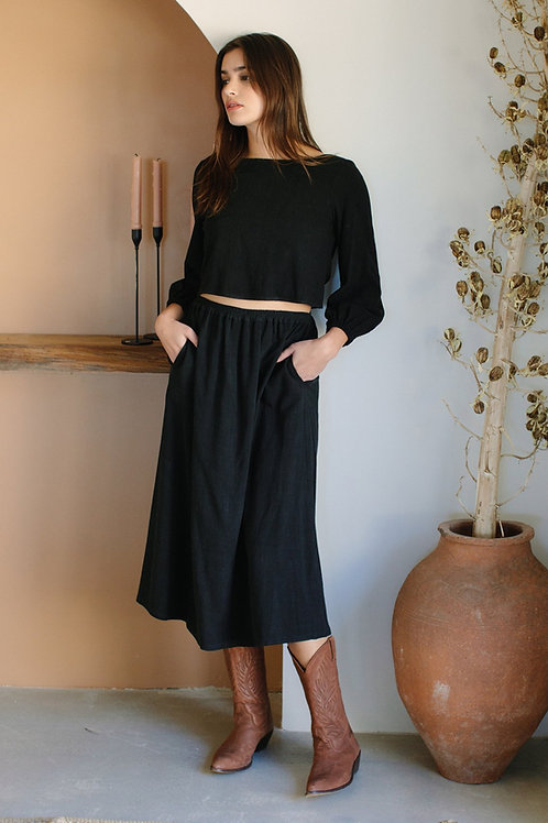 Linen Olivia Skirt