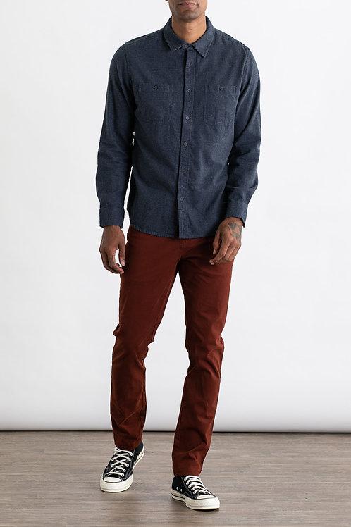 Navy Houndstooth Winslow Shirt