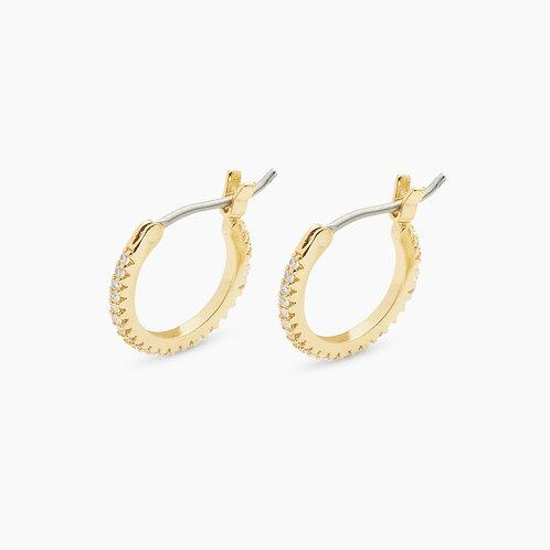 Shimmer Huggie Earrings