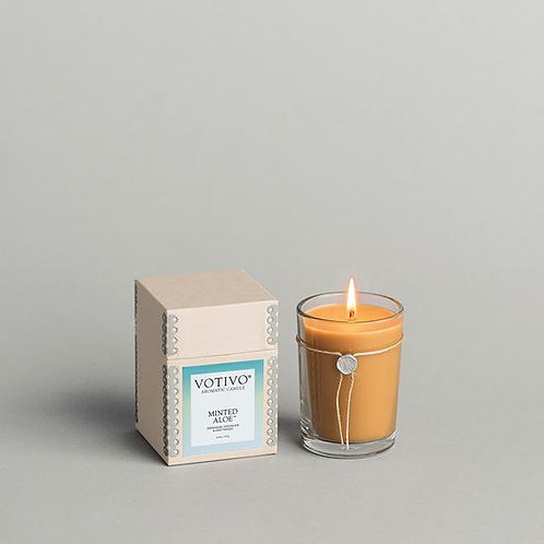 Minted Aloe Candle