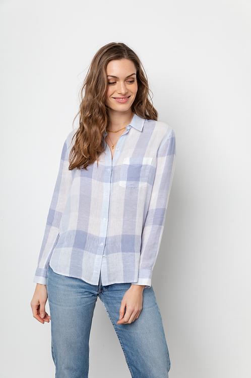 Sky Blue Check Charli Shirt
