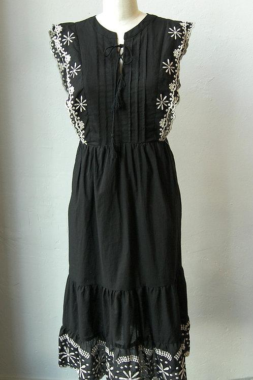 April Eyelet Midi Dress