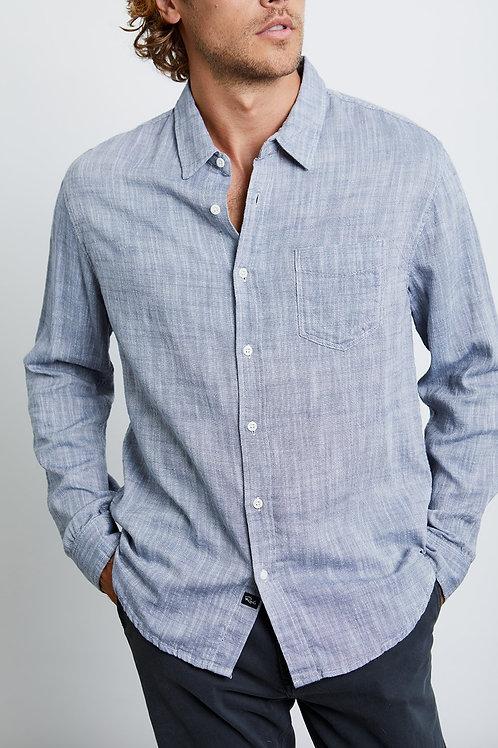 Navy Chambray Wyatt Shirt