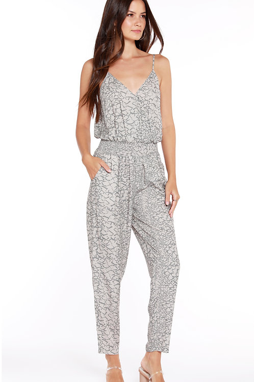 Abstract Snake Jumpsuit