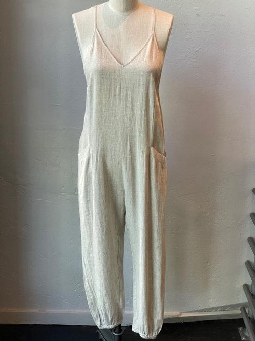 Linen Overall Jumpsuit