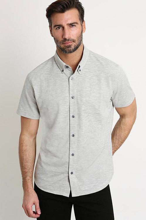Grey Linen TriBlend Shirt