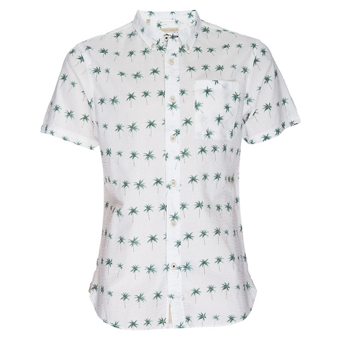 Seersucker Palm Truman Shirt