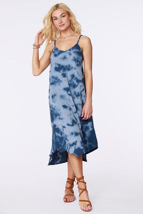 Tie Dye Gauze Midi Dress