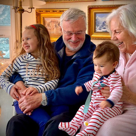 Christmas 2019 with our granddaughters