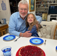 Getting ready for dessert with my oldest granddaughter, Izzy