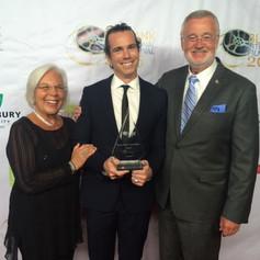 Celebrating my son, Matt's, film award in LA