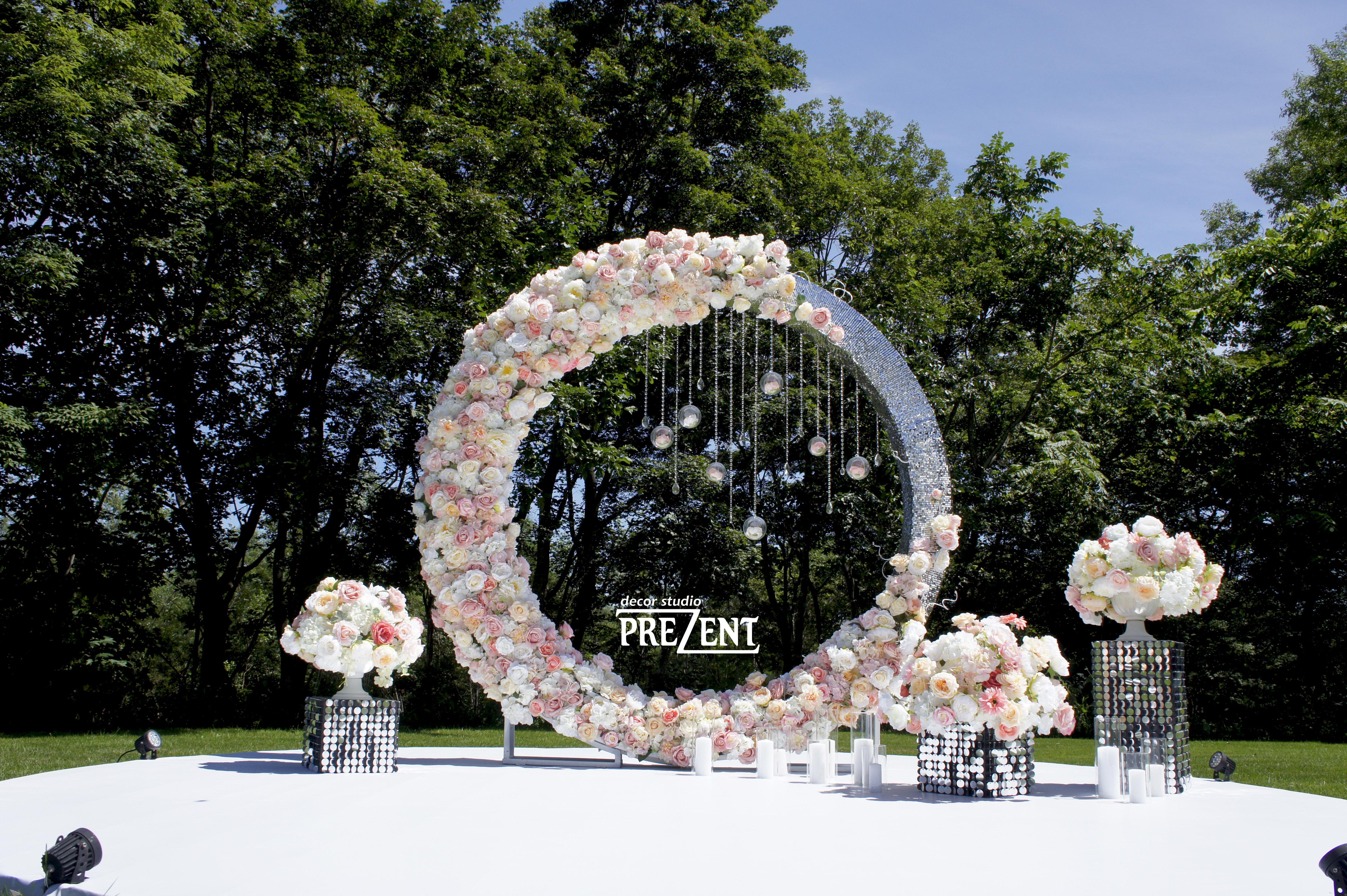 арка кольцо на свадьбу