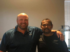(Left) Paul Enegren - 2018 Inductee with (Right) Kushan Abayasekera - 2008 Inductee