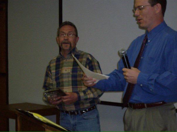 (Left) Buz Funke - 2008 Inductee (Right) Gene Paulsen - 2011 Inductee