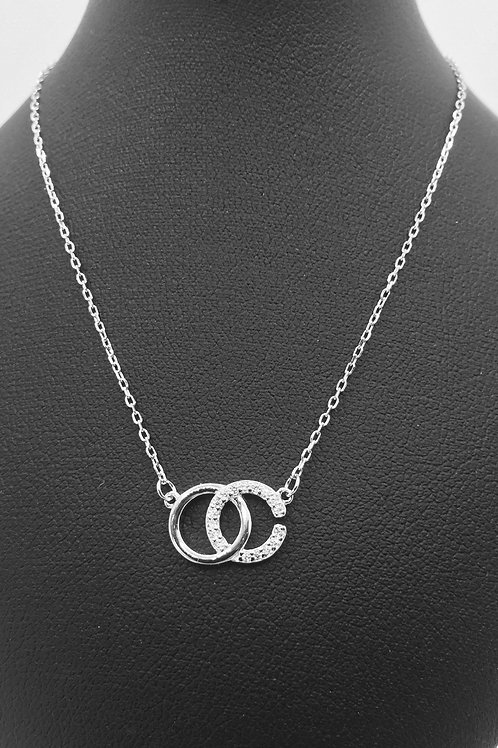925.Sterling Silver and Cubic Zirconia Necklace