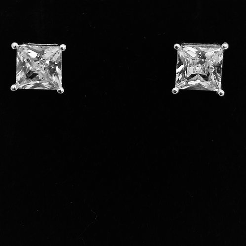 925.Sterling Silver and Cubic Zirconia PC Earrings