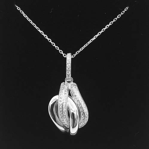 925 Sterling Silver and Cubic Zirconia Necklace