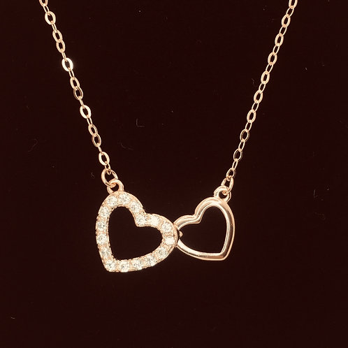 925.Sterling Silver Rose Gold plated Necklace