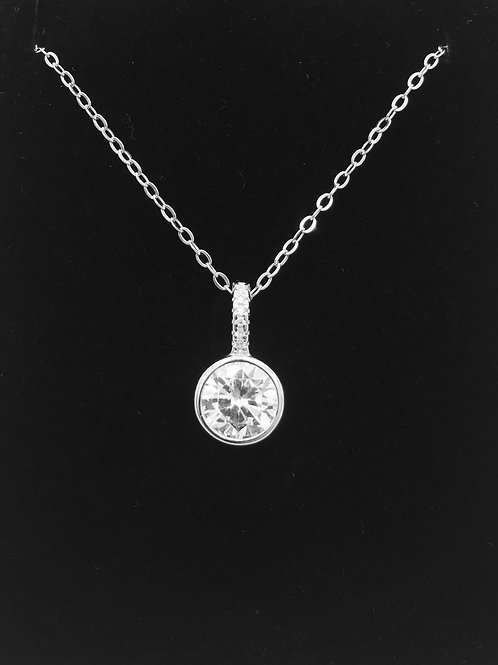 925 Sterling Silver and Cubic Zirconia