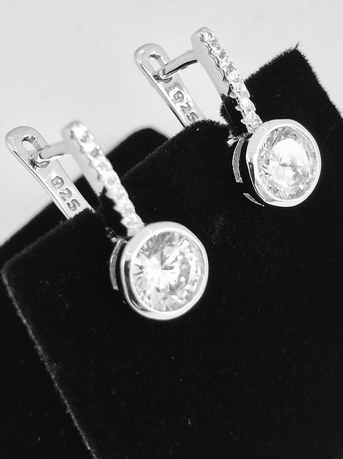 925.Sterling Silver and Cubic Zirconia Earrings