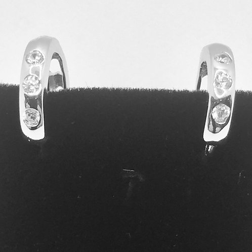 925.Sterling Silver Huggie Style Earrings