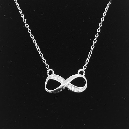 925 Sterling silver infinity style and cubic Zirconia pendant