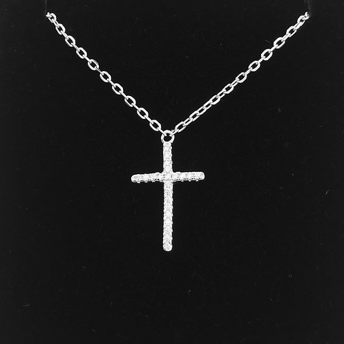 925 Sterling Silver and Cubic zirconia Cross