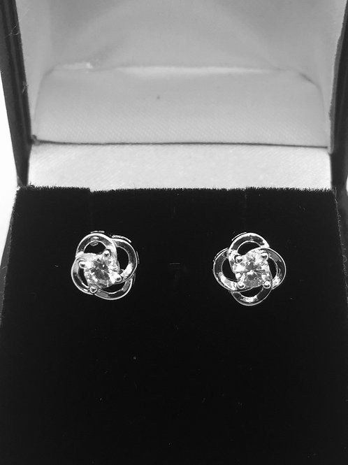 925.Sterling Silver and Cubic Zirconia Studs