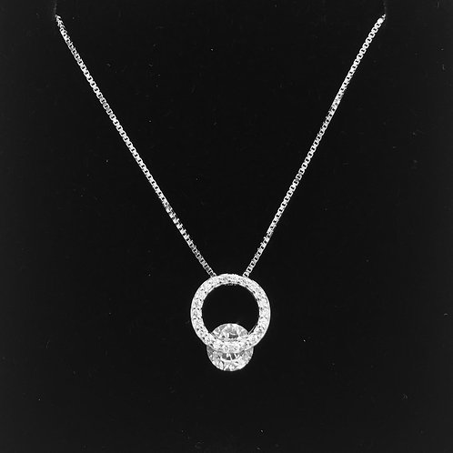 925 Sterling silver and Cubic Zirconia Neclace