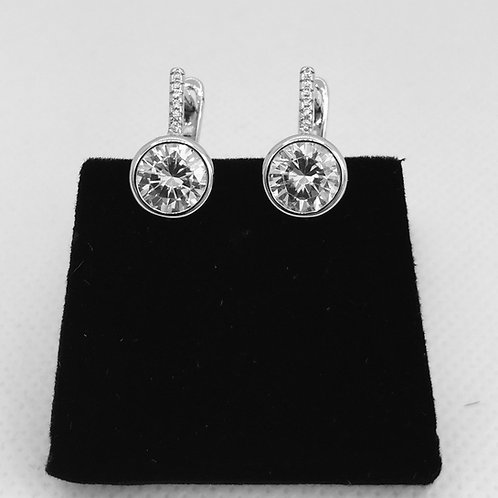 925. Sterling Silver and Cubic Zirconia Earrings