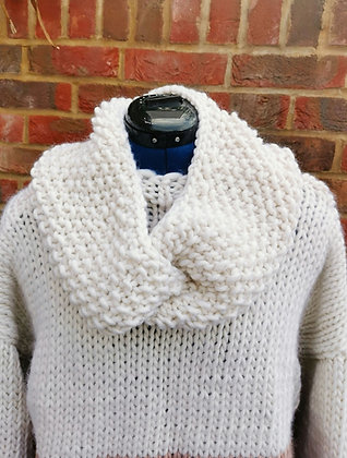 Cream Long Twisted Snood