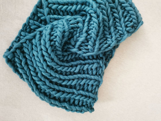 Duck Egg Blue Twisted Neck Warmer / Snood