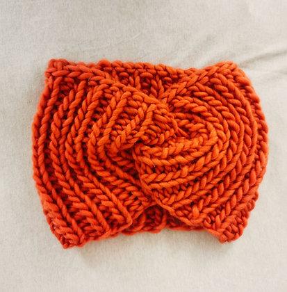 Orange Twisted Snood / Neck Warmer