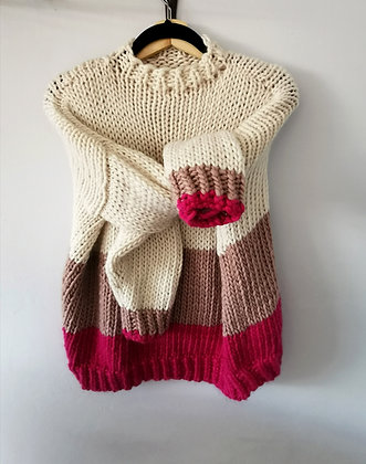 Ombre Jumper in Pinks