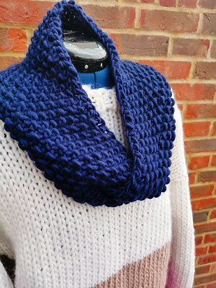 Sale Navy Blue Long Twisted Snood