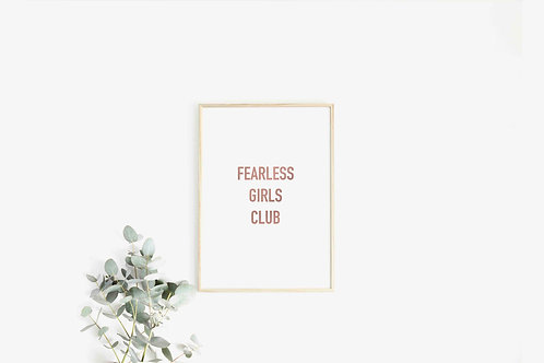 Fearless Girls Club - Pink Foil Print
