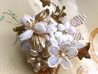 White Costume jewelry
