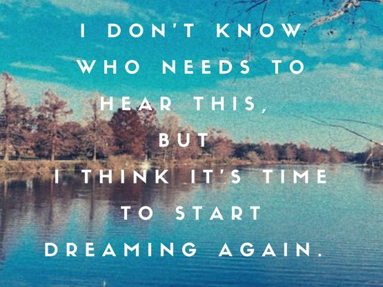 Dreaming my way free...