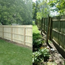 Before and after / new fencing