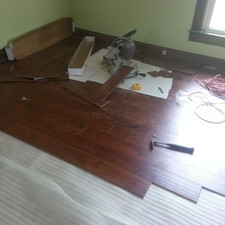 Wood floor work