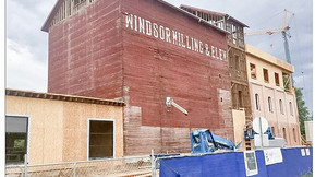 The four-story Windsor Mill was original