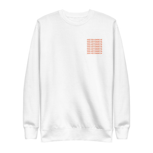 JUST FOLLOWING UP CREW NECK
