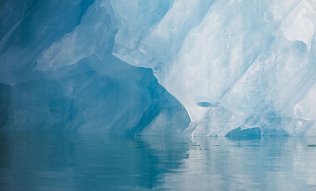 Glacier ice abstract by Chase Teron