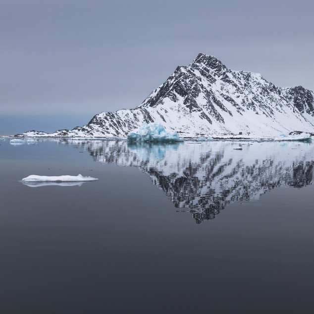 Svalbard Mountain Reflection by Chase Teron