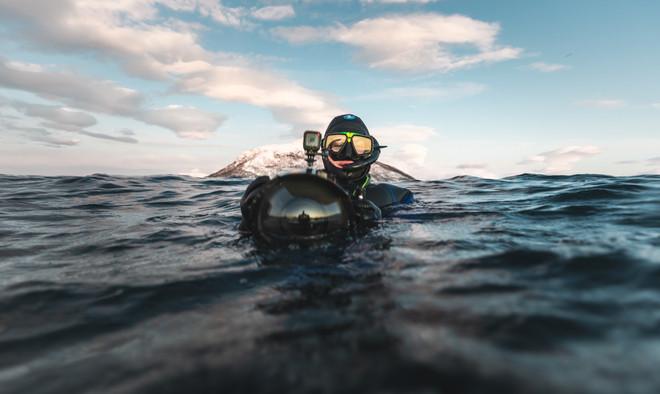 Swim with Wild Orcas Photo Tour Artica Studios