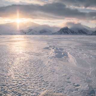 Fast Ice edge in Svalbard by Chase Teron