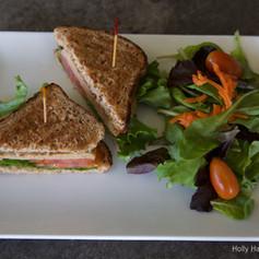 Turkey Sandwich with Side Salad